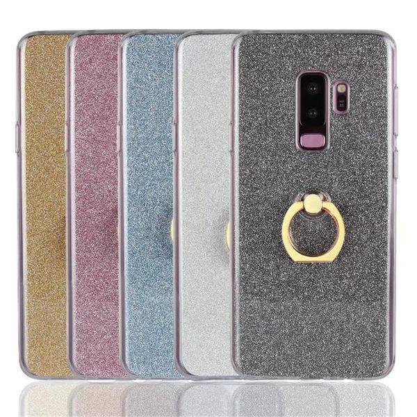 【SZ14】Samsung S9 plus手機殼 閃粉指環 二合一指環 三星S9手機殼 保護套