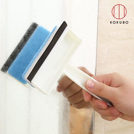 日本 KOKUBO小久保 浴室水滴汙垢清潔刷 清潔刷 兩用 刷子 水垢 髒汙 海綿