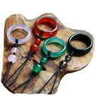 玉石手機指環掛繩扣手機掛飾掛件吊墜短男女款環指繩手機鏈吊飾