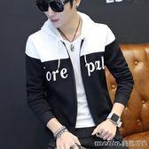 秋季棒球服男士韓版修身青少年夾克潮男裝青少年春秋外套冬天衣服 美芭