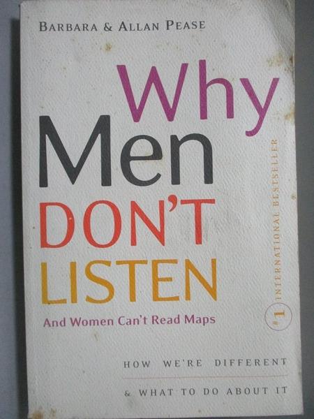 【書寶二手書T3/原文書_OPS】Why Men Don t Listen and Women Can t Read M