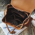 韓版英倫學院風雙肩包春新款復古時尚pu皮日韓女背 『洛小仙女鞋』