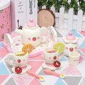 卡貝奇 木制過家家茶具套裝 男女孩廚具玩具男女孩1-2-3-4歲禮物