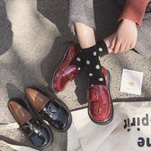 娃娃鞋大頭鞋女韓版學生原宿風ulzzang小皮鞋日繫軟妹方扣娃娃單鞋百搭 【四月新品】