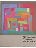 二手書博民逛書店 《Managing human resources》 R2Y ISBN:0314890262│RandallS.Schuler