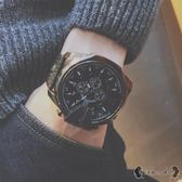 手錶 生防水個性霸氣歐美大錶盤皮帶石英錶非機械男錶 - 歐美韓