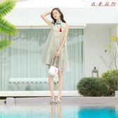 漢服國風改良唐裝女連身裙棉麻古風女裝