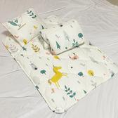 【Leafbaby】台灣製幼兒園專用可機洗精梳純棉兒童睡墊組-獨角獸班