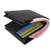 零錢包 皮夾錢包男士短款加厚錢夾商務頭層夾子橫款豎款青年潮