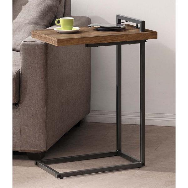 【森可家居】雅博德小邊桌 8JX461-7 邊几 小茶几 木紋質感 北歐工業風
