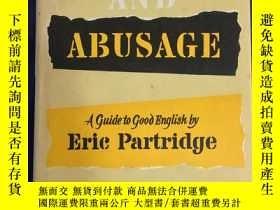 二手書博民逛書店1974年英國印刷罕見Usage and Abusage : A