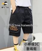 男童短褲 男童褲子夏季薄款短褲兒童休閒中褲中大童五分工裝褲 【小檸檬】