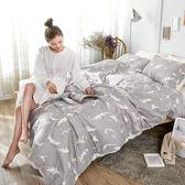 床包被套組 / 雙人【幻羽夢境】含兩件枕套  科技天絲纖維  戀家小舖台灣製AAT212