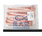 1H7A【魚大俠】BF070台灣豬五花燒烤肉片(0.2cm/1kg/盒)#燒烤_白盤