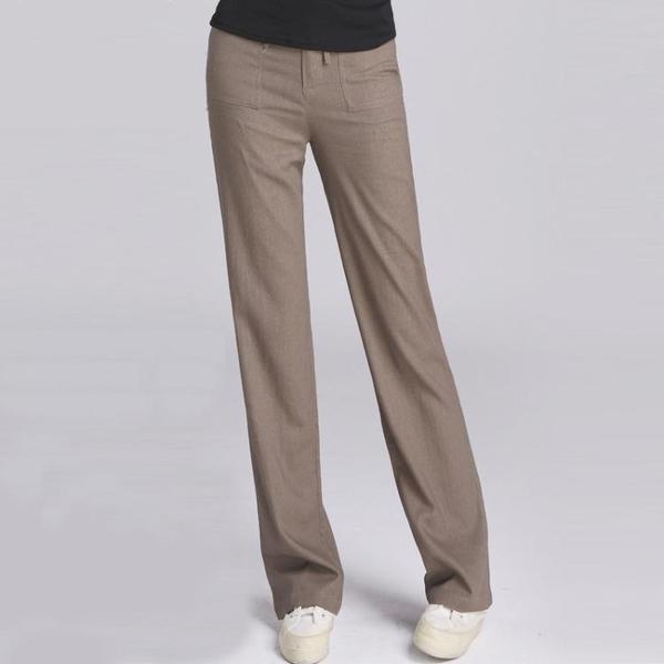 棉麻闊腿褲 春夏季薄款棉布女式闊腿亞麻褲休閒長褲大碼高腰直筒女褲棉麻褲子 曼慕