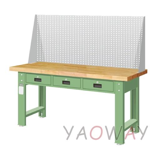 【耀偉】天鋼 橫式三屜上架組(原木)工作桌WAT-6203W2 (工作台,工業桌,機台桌)