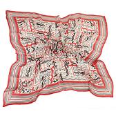 Christian Dior 波形紋多彩大絲巾(紅色)179003