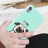 韓國 巴哥犬 硬殼 手機殼│iPhone 5S SE 6S 7 8 Plus X XS MAX XR LG G6 G7 G8 V20 V30 V40 V50│z9054