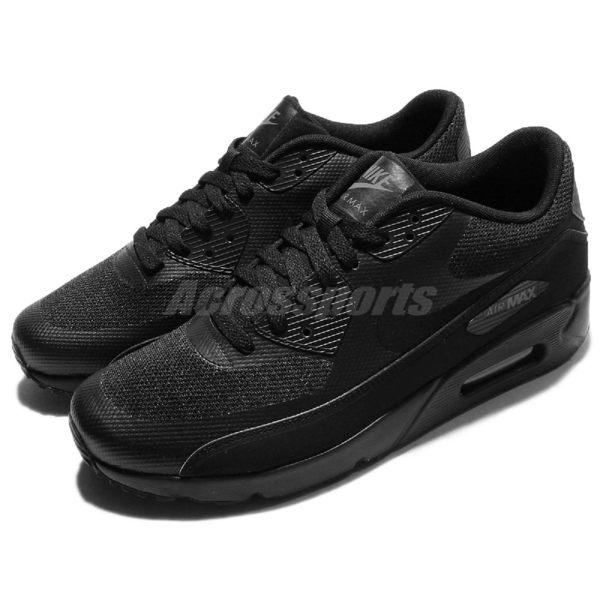 Nike 復古慢跑鞋 Air Max 90 Ultra 2.0 Essential 黑 全黑 氣墊 運動鞋 男鞋【PUMP306】 875695-002
