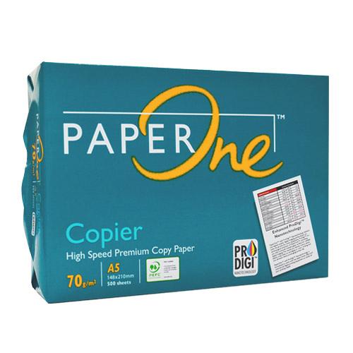 【奇奇文具】PAPER ONE 綠包70P A5影印紙(每箱10包)