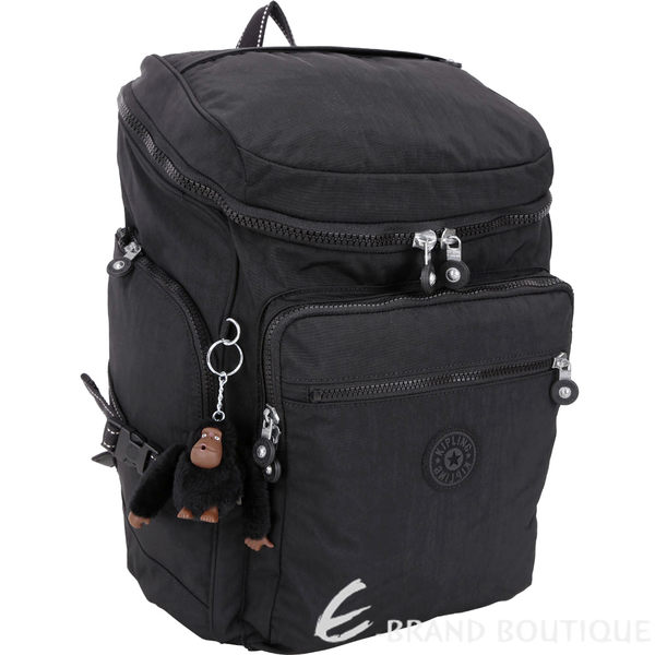 Kipling UPGRADE K16199 大款筆電隔層拉鍊後背包(黑色) 1830311-01