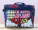【震撼精品百貨】Hello Kitty 凱蒂貓~Hello Kitty日本SANRIO三麗鷗KITTY化妝包/收納包-格紋12578