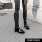 長筒雨靴 高筒雨鞋女長筒韓國時尚可愛外穿防滑雨靴防水膠鞋套鞋過膝靴子潮 快速出貨
