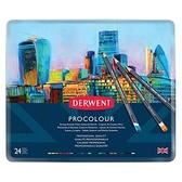PROCOLOUR油性色鉛24色-鐵盒裝 2302506
