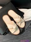 拖鞋涼拖女外穿平底百搭防滑一字拖時尚涼鞋半拖【公主日記】