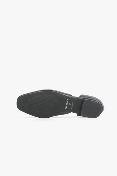 ALL BLACK 設計平底鞋  (黑色)