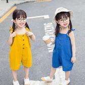 女寶寶夏季連體褲嬰幼兒童裝連體衣小童5闊腿褲4韓版3潮2洋氣0歲1