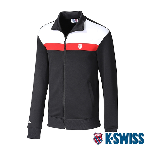 K-SWISS Shield Logo Panel Jacket運動外套-男-黑