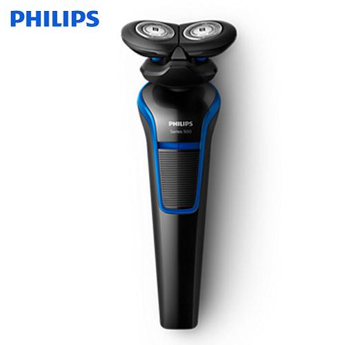 【贈面膜】【飛利浦 PHILIPS】U-Tube戰鬥機電鬍刀S528-黑潮藍