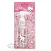 〔小禮堂﹞Hello Kitty 按壓式空瓶《粉.化妝品.點點褲》75ml.空罐.分裝瓶罐 5712977-46245