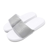 Puma 拖鞋 Popcat Reflective Slides 銀 白 LOGO 運動拖鞋 涼鞋 基本款 男鞋 女鞋【PUMP306】 36942201