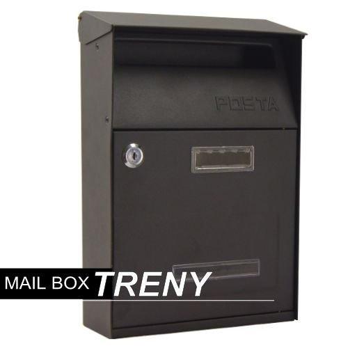 【Treny】自然風情-美式經典黑鑄鐵信箱/塑鋼/鐵製/門牌標示牌/書報箱/DM雜誌-7558