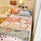 床罩 珊瑚牛奶法蘭絨床笠單件床罩床套加厚防滑床墊保護罩席夢思1.2m床【幸福小屋】