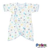 PUKU 藍色企鵝-印花紗布蝴蝶裝-(0~3月)60CM 水藍/兩色可選 大樹