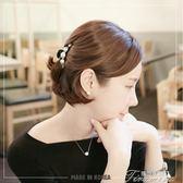 抓夾中號半頭夾韓國珍珠盤發馬尾夾頂夾頭飾飾品歐美時尚發抓發夾  提拉米蘇