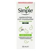 英國進口 Simple 滋潤修護乳液 125ml(Replenishing Rich Moisturiser)