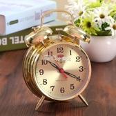 起床鬧鐘超大聲音起床馬蹄錶機械老式復古懷舊全金屬機芯手動上發條鬧鐘『獨家』流行館