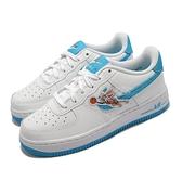 Nike 休閒鞋 Air Force 1 GS 白 藍 兔寶寶 怪物奇兵 女鞋 大童鞋 【ACS】 DM3353-100