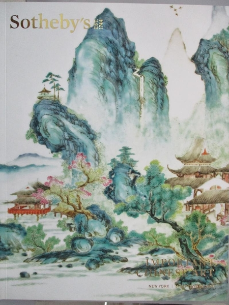 【書寶二手書T3/收藏_JSR】Sotheby s_Important Chinese Art_2019/9/11