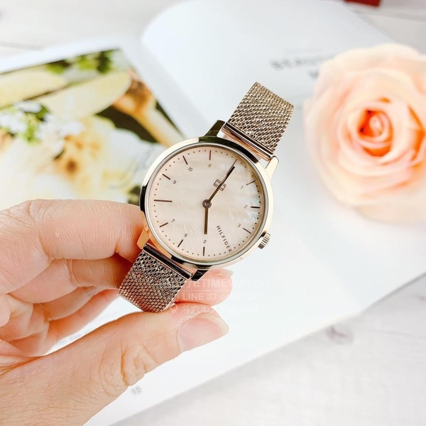 Tommy Hilfiger 簡約 時尚 編織米蘭錶帶 女錶 TH700024 公司貨 情人節禮物 送女生