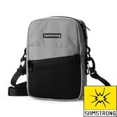 【SAMSTRONG】簡約休閒側背包『灰色』露營.戶外.健行.旅遊.旅行.自助旅行.多隔間 B0404