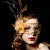 舞會面具女性感萬聖節兒童威尼斯化妝半臉成人假面情趣面具 DA731『黑色妹妹』