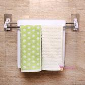 毛巾架 強力不銹鋼毛巾架免打孔吸盤 浴室掛毛巾桿毛巾掛架衛生間浴巾架T