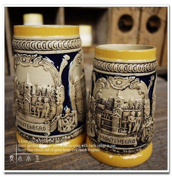【德國代購:門得內哥羅】酒吧專用陶瓷德國啤酒杯