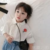 春裝新款中小童寶寶兒童白襯衫女童春秋純棉襯衣洋氣韓版童裝 至簡元素