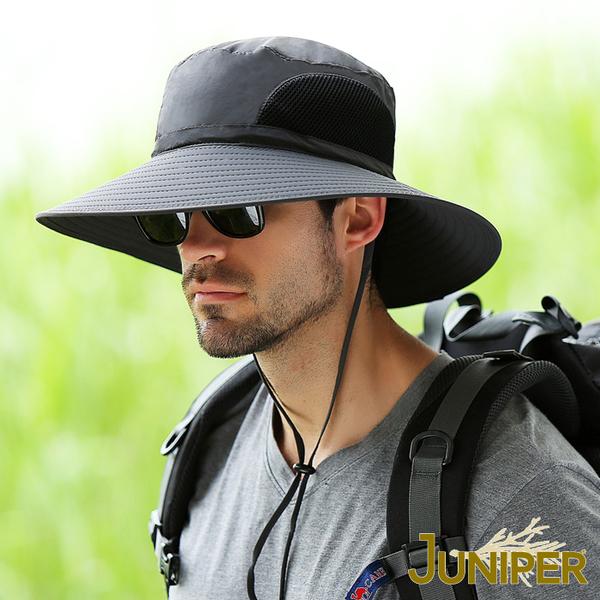 防曬帽子-大帽眉檐防UV紫外線防潑水遮陽漁夫帽J7557A JUNIPER